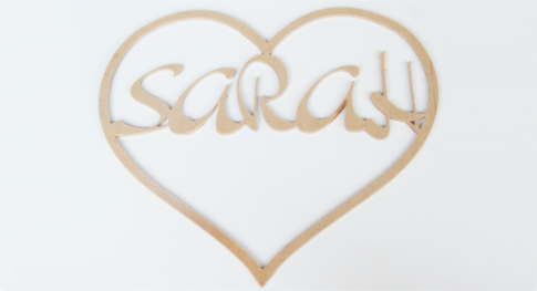 Small Heart Sign Custom Name